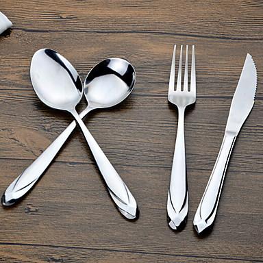 כלי אוכל 4pcs פלדת על חלד סט 20.5*2;20.5*2;19*2;23*2 cm