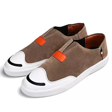 בגדי ריקוד גברים נעליים PU אביב / סתיו נוחות נעלי ספורט שחור / אפור / חום בהיר