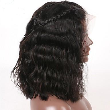 שיער אנושי ללא דבק, תחרה מלאה / תחרה מלאה פאה שיער ברזיאלי גלי פאה עם שיער תינוקות 130% שיער טבעי / חלק אמצעי / בתולה100% בגדי ריקוד נשים קצר / בינוני / ארוך פיאות תחרה משיער אנושי