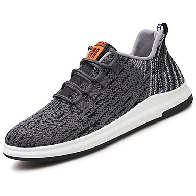 Men's PU(Polyurethane) Spring / Fall Comfort Athletic Shoes Dark Running Shoes Black / Dark Shoes Grey / Light Grey 268bd4