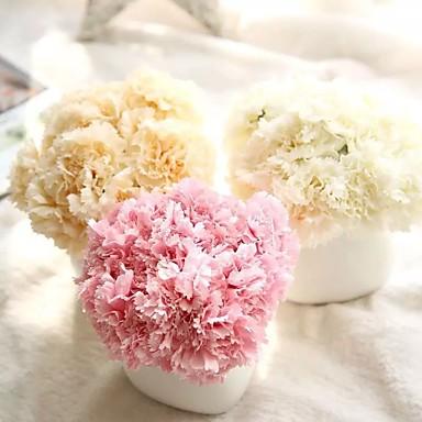 פרחים מלאכותיים 1 ענף פסטורלי סגנון ציפורן פרחים לשולחן