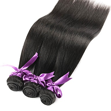 3 חבילות שיער ברזיאלי ישר 8A שיער אנושי טווה שיער אדם שוזרת שיער אנושי תוספות שיער אדם בגדי ריקוד נשים