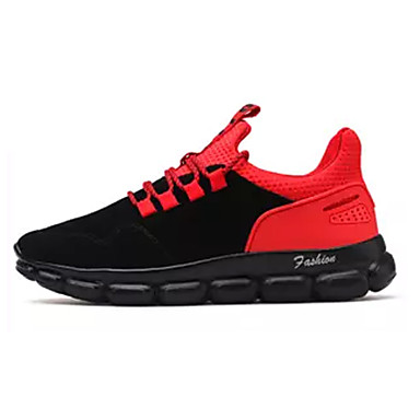 בגדי ריקוד גברים עור חזיר / PU אביב / סתיו נוחות נעלי אתלטיקה אפור / שחור וזהב / שחור אדום / ריצה