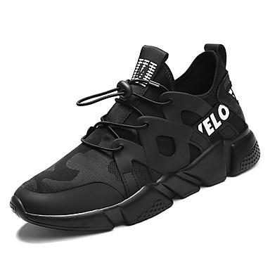 בגדי ריקוד גברים בד אביב / סתיו נוחות נעלי אתלטיקה הליכה שחור / שחור לבן / בורדו