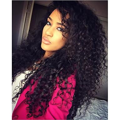 שיער אנושי חזית תחרה פאה שיער ברזיאלי Kinky Curly פאה עם שיער תינוקות 130% שיער טבעי / בתולה100% / לא מעובד קצר / בינוני / ארוך פיאות תחרה משיער אנושי / קינקי קרלי