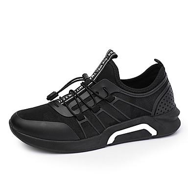 בגדי ריקוד גברים אור סוליות בד אביב / סתיו נעלי אתלטיקה ריצה שחור / שחור לבן / שחור אדום