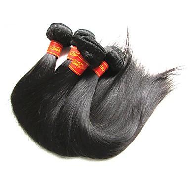 שיער בתולי חוטי ערב / מארג שיער / שזירה Remy  משיער אנושי לנשים שחורות ישר / קלאסי שיער ברזיאלי / חבילות 400 g 12 חודשים לבוש ליום