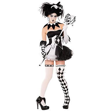 ליצן תחפושות קוספליי בגדי ריקוד נשים האלווין (ליל כל הקדושים) פסטיבל / חג תחפושות ליל כל הקדושים שחור משובץ / משבצות