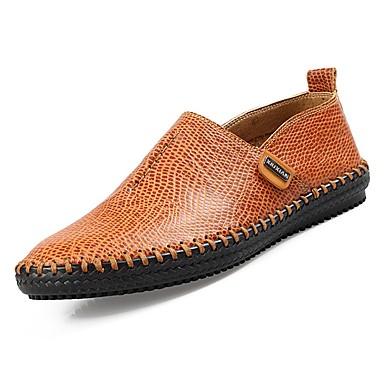 בגדי ריקוד גברים גומי אביב / סתיו נוחות נעליים ללא שרוכים שחור / חום בהיר / חום כהה