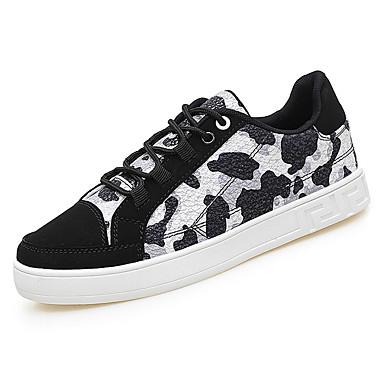בגדי ריקוד גברים נעליים PU אביב / סתיו נוחות נעלי ספורט ורוד / שחור לבן / שחור / כחול