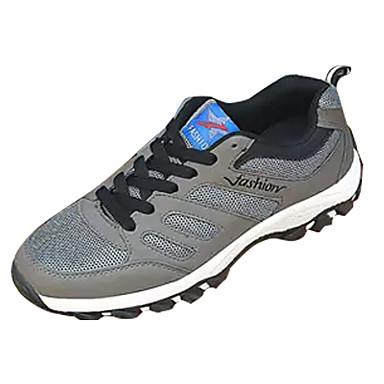 בגדי ריקוד גברים נעלי נוחות PU אביב / סתיו נעלי אתלטיקה סִיסמָה שחור / אפור / כחול / טיפוס