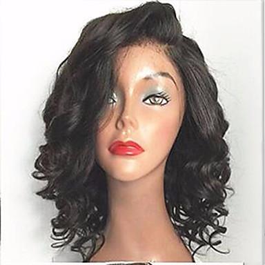 שיער אנושי חלק קדמי תחרה ללא דבק / חזית תחרה פאה שיער ברזיאלי גלי פאה 130% עם שיער בייבי / שיער טבעי / לא מעובד בגדי ריקוד נשים קצר / בינוני פיאות תחרה משיער אנושי