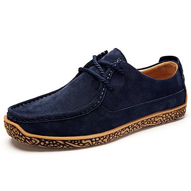 בגדי ריקוד גברים PU אביב / סתיו נוחות נעלי אוקספורד כחול כהה / חאקי / בורדו