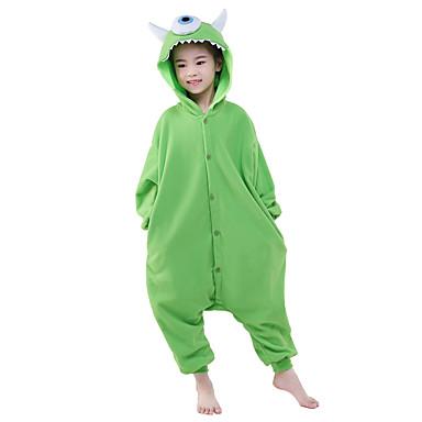 للأطفال بيجاما كيجورومي أنيمي واحد-- العينين الوحش بيجاما ونزي القطبية ابتزاز أخضر تأثيري إلى الأولاد والبنات ملابس للنوم الحيوانات رسوم متحركة عطلة / عيد ازياء