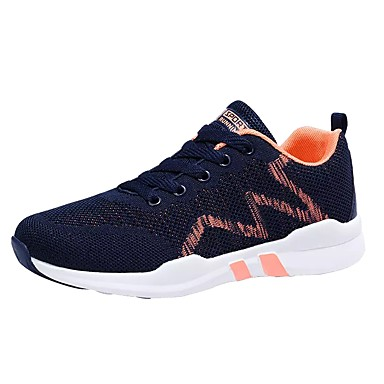 בגדי ריקוד גברים נעלי נוחות טול / PU סתיו / חורף נעלי אתלטיקה ריצה כחול כהה / אפור / שחור אדום