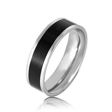 בגדי ריקוד גברים טבעת הטבעת - פלדת על חלד אופנתי 7 / 8 / 9 לבן / שחור עבור רשמי / משרד קריירה