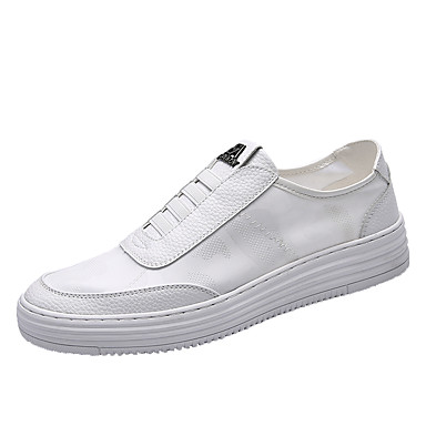 בגדי ריקוד גברים דמוי עור / PU אביב / סתיו נוחות נעליים ללא שרוכים לבן
