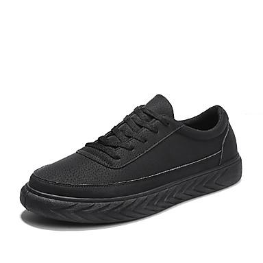 בגדי ריקוד גברים נעלי נוחות עור נובוק אביב / סתיו נעלי ספורט שחור / אפור / חאקי