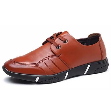 נעליים מיקרופייבר PU סינתטי אביב סתיו נוחות נעלי אוקספורד ל קזו'אל שחור חום
