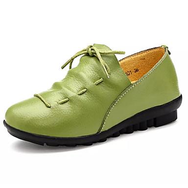 Dame Sko PU Sommer Sandaler Høye hæler Flat hæl til Svart Rød Grønn Blå