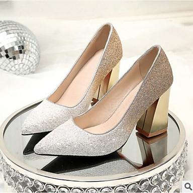 Talon Polyuréthane 06531771 Blanc Femme Talons Confort Eté fermé Chaussures Noir Mariage à Rose Bout Printemps Bottier Chaussures AxwFR85qw