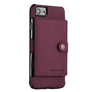 מגן עבור Apple iPhone X / iPhone 8 ארנק / מגנטי כיסוי אחורי אחיד קשיח עור PU ל iPhone X / iPhone 8 Plus / iPhone 8