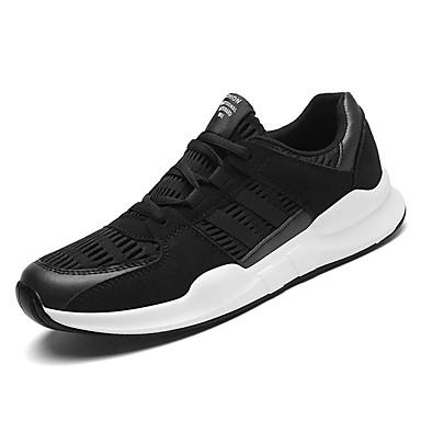 נעליים טול אביב סתיו נוחות נעלי אתלטיקה ל אתלטי לבן שחור אפור
