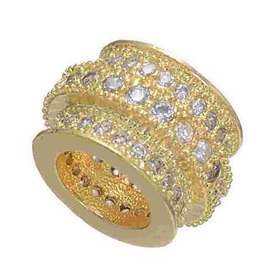 תכשיטים DIY 1 יח חרוזים יהלום מדומה סגסוגת זהב כסף זהב ורד עגול חָרוּז 0.5 cm עשה זאת בעצמך שרשראות צמידים
