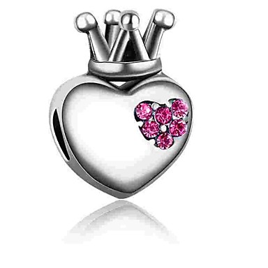 Gioielli Fai-da-te 1 Pezzi Perline Diamanti D'imitazione Lega Fucsia Blu Cuori Perlina 0.2 Cm Fai Da Te Collana Bracciali #06525660 Negozio Online