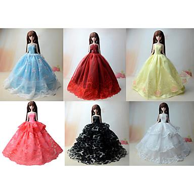Princess Šaty Pro Barbie Doll Pro Dívka je Doll Toy