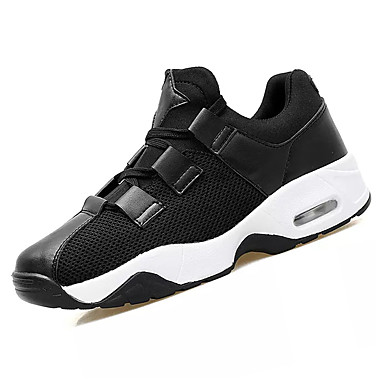 נעליים PU אביב סתיו נוחות נעלי ספורט ל בָּחוּץ לבן שחור