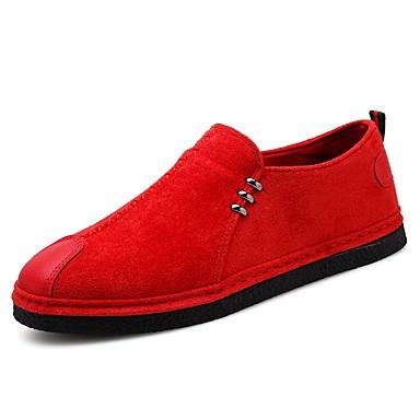 בגדי ריקוד גברים ניילון אביב / קיץ נוחות נעליים ללא שרוכים שחור / אדום