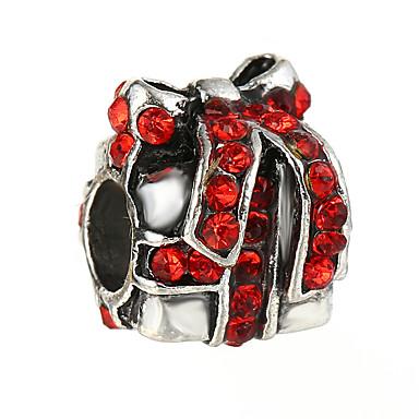 תכשיטים DIY 10 יח חרוזים אבן נוצצת סגסוגת לבן אדום כחול לֹא סָדִיר חָרוּז 0.45 cm עשה זאת בעצמך שרשראות צמידים