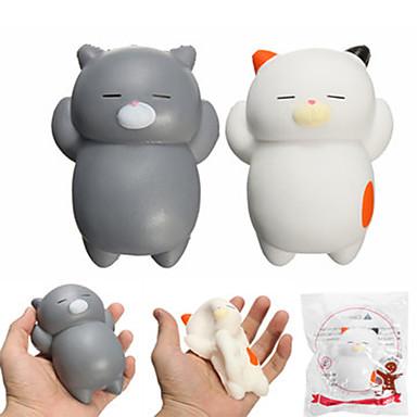 LT.Squishies צעצוע מעיכה חתול חזיר חיה חיה הפגת מתחים וחרדה Office צעצועים במשרד מודרני, חדשני יוניסקס בנים בנות צעצועים מתנות