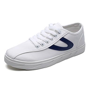 בגדי ריקוד גברים נעליים PU אביב / סתיו נוחות נעלי ספורט לבן / שחור / אדום