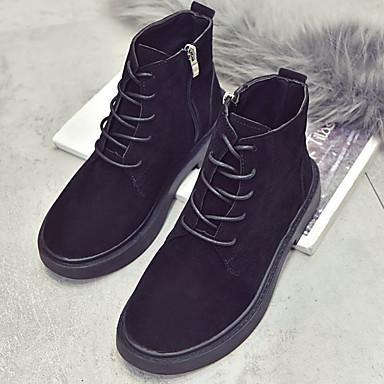 les chaussures de femme kaka (polyuréthanne) bottes de combat - bottes d'hiver noir mi - combat mollet bottes à bouts pointus 0b6802