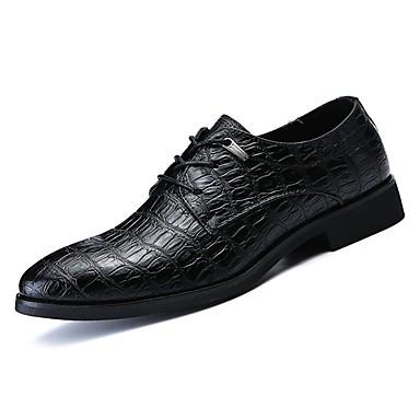 בגדי ריקוד גברים נעליים פורמליות עור נאפה Leather אביב / סתיו נעלי אוקספורד שחור / בורדו / בָּחוּץ / נעלי נוחות