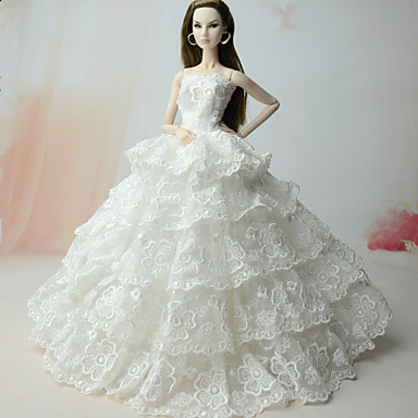 Hochzeit Kleider Für Barbie-Puppe Kleider Für Mädchen Puppe Spielzeug