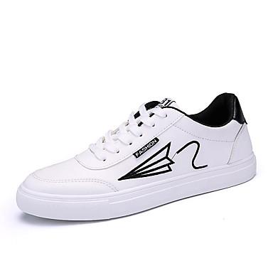 בגדי ריקוד גברים PU אביב / סתיו נוחות נעלי ספורט לבן / שחור