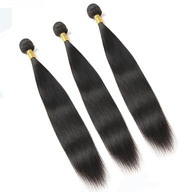 זול תוספות משיער אנושי-3 חבילות שיער ברזיאלי ישר 10A שיער בתולי שיער אנושי Ombre 8-26 אִינְטשׁ Ombre שוזרת שיער אנושי ללא ריח טבעי איכות מעולה תוספות שיער אדם