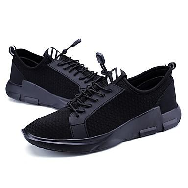 בגדי ריקוד גברים PU אביב / סתיו נוחות נעלי ספורט שחור / שחור לבן