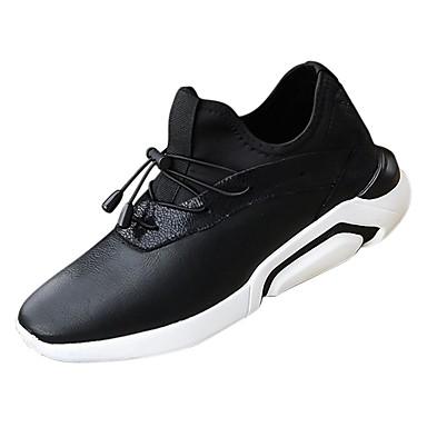 נעליים מיקרופייבר PU סינתטי אביב סתיו נוחות נעלי ספורט ל קזו'אל לבן שחור אפור