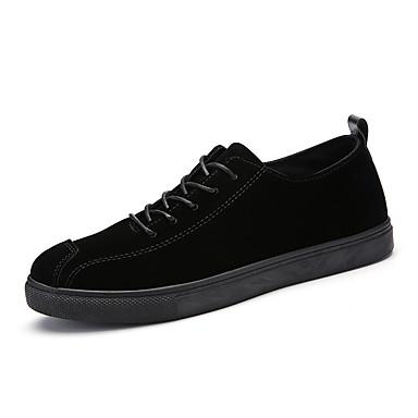 בגדי ריקוד גברים דמוי עור אביב / קיץ נוחות נעלי ספורט שחור