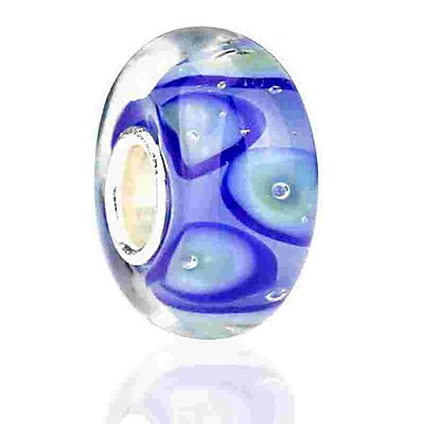 Ragionevole Gioielli Fai-da-te 1 Pezzi Perline Vetro Colorato Lega Blu Tonda Perlina 0.2 Cm Fai Da Te Collana Bracciali #06525678