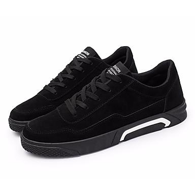 בגדי ריקוד גברים נעליים עור נובוק אביב / סתיו נוחות נעלי ספורט שחור / אפור / אדום