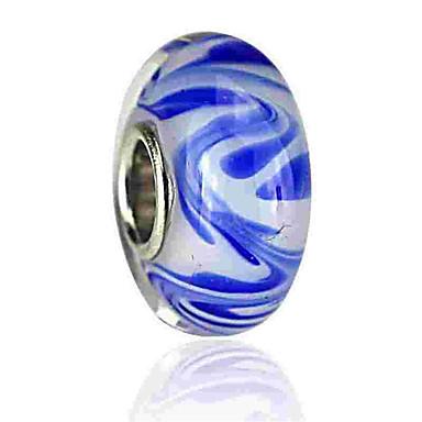 תכשיטים DIY 1 יח חרוזים זיגוג צבעוני סגסוגת כחול ים עגול חָרוּז 0.2 cm עשה זאת בעצמך שרשראות צמידים