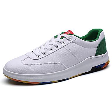 בגדי ריקוד גברים בד אביב / סתיו נוחות נעלי ספורט שחור אדום / לבן וכחול / לבן וירוק