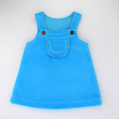 שמלה ללא שרוולים אחיד פעיל / בסיסי בנות תינוק / חמוד