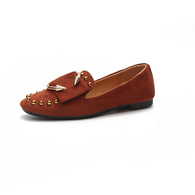 Otoño Bajo Botas Marrón Combate Botas de Dedo Rosa Zapatos Mujer Goma Tacón 06257981 redondo Caqui TPqXn8Ext