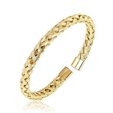 baratos Bangle-Homens Bracelete Magnética Aço Inoxidável Pulseira de jóias Preto / Prata / Ouro Rose Para Diário Para Noite